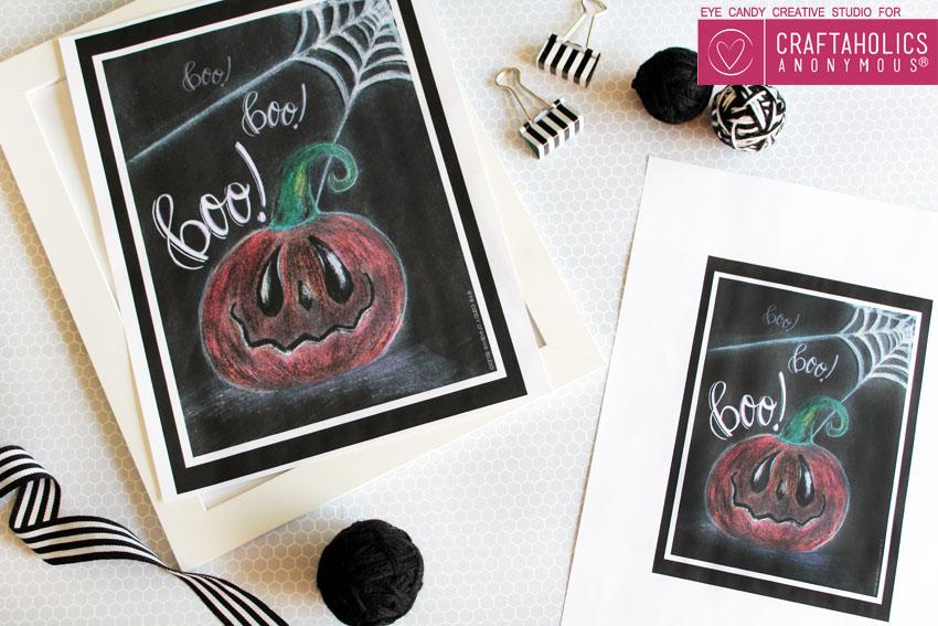 halloween chalk art
