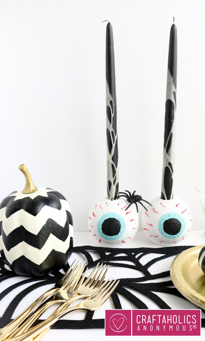 Easy table decor for Halloween