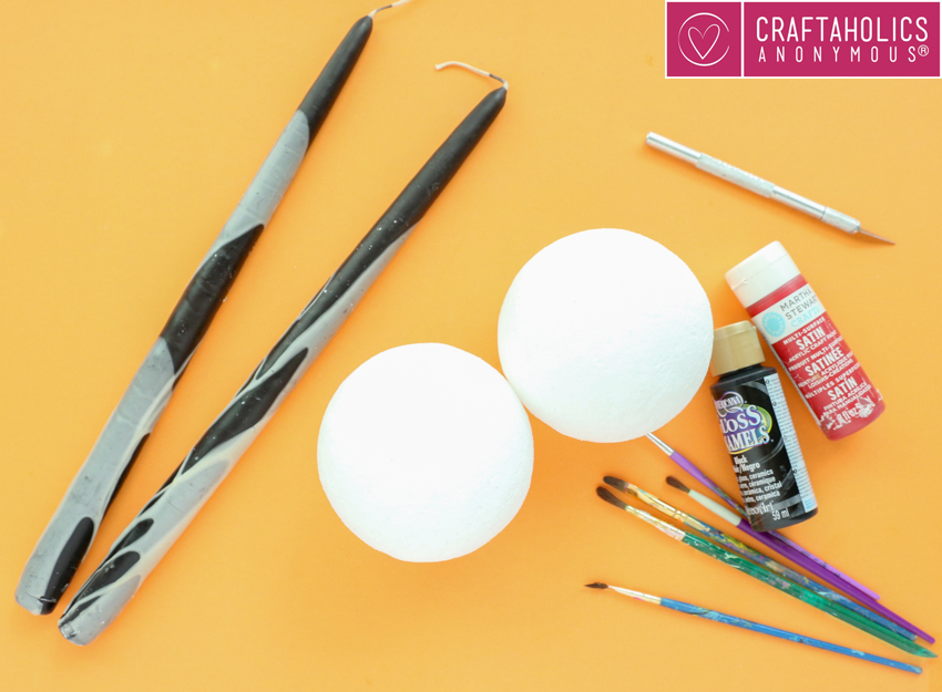 how to make Spooky Eyeball Candle Holders for halloween