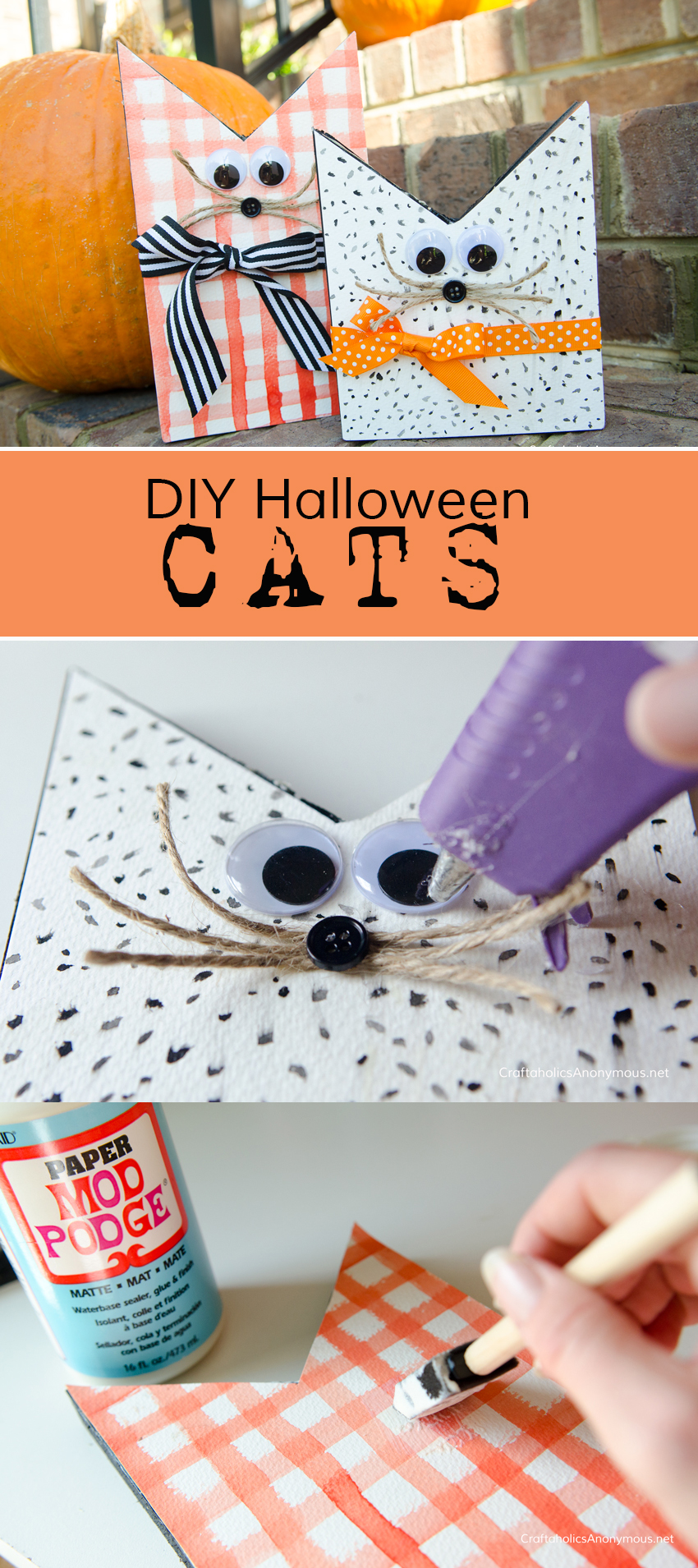 DIY Halloween Cats craft idea