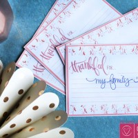 FREE Thanksgiving Printable:  Thankful For Cards