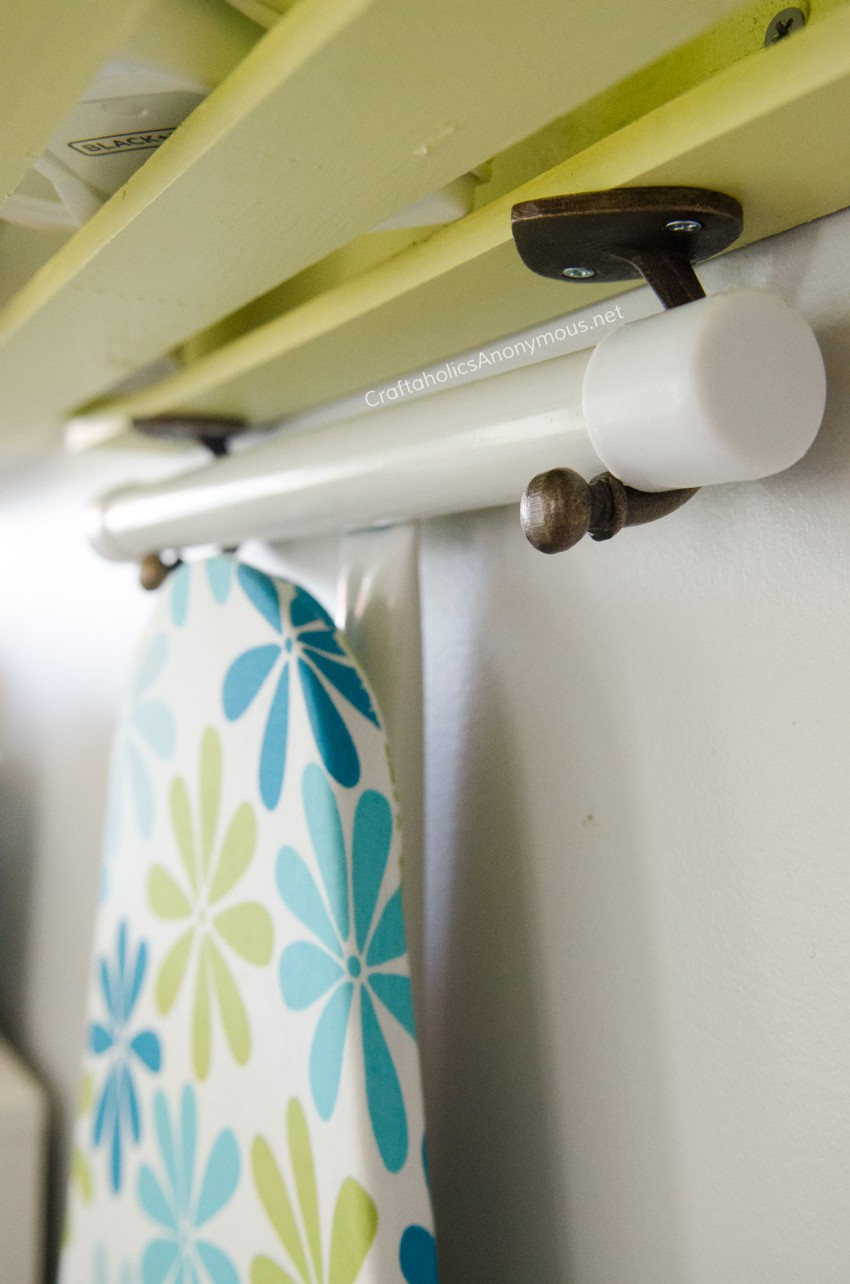 DIY Ironing Station using a wood crate craft