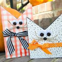 DIY Wood Halloween Cats