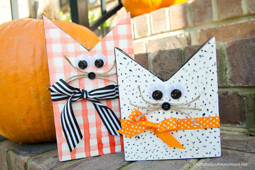 DIY Wood Halloween cats craft idea