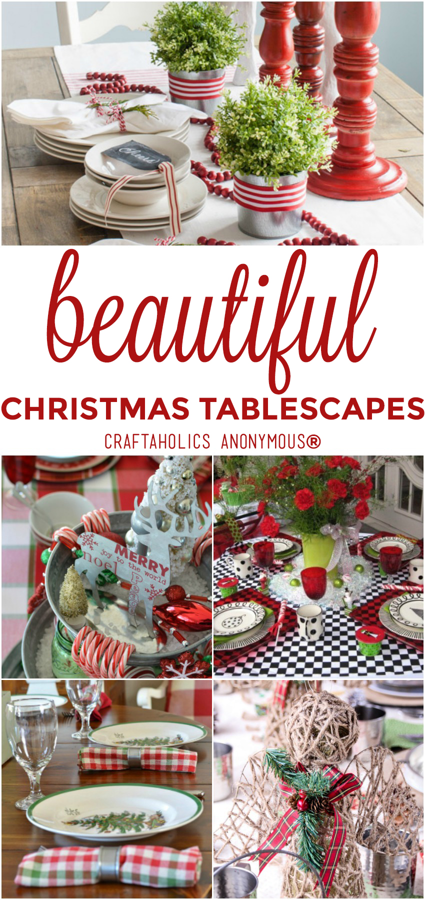 25 Beautiful Christmas Tablescapes from craftaholicsanonymous.net