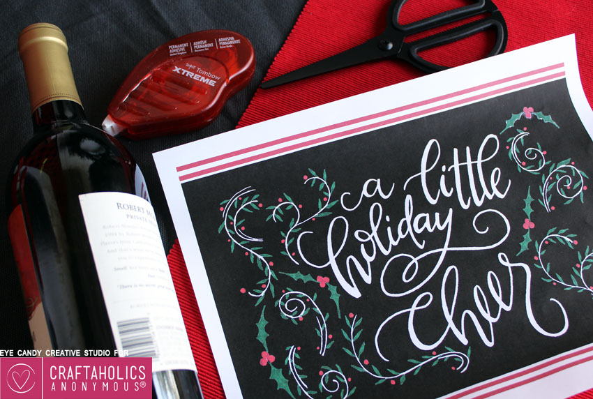 easy holiday hostess gift printable