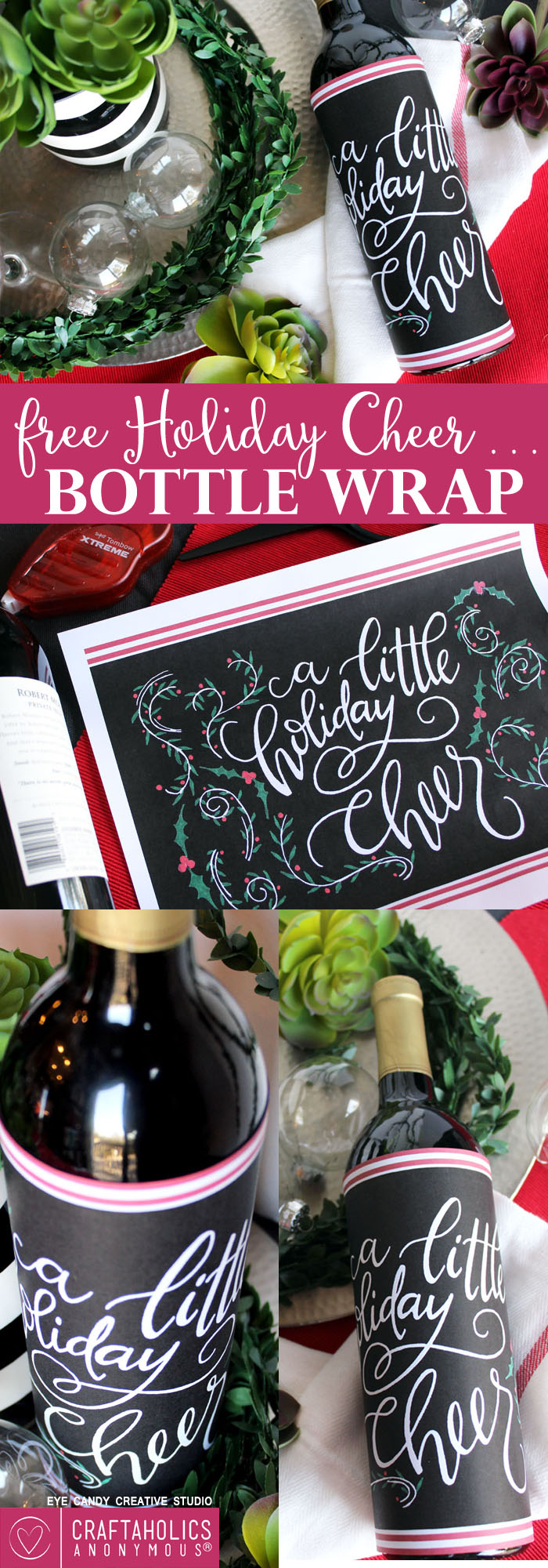 Download this free holiday printable for an easy hostess gift! craftaholicsanonymous.net