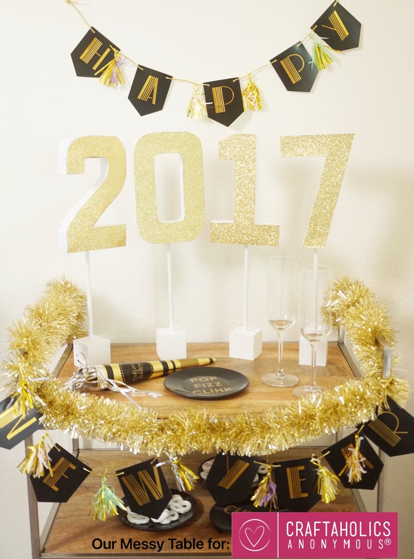 new years eve graduation party glitter letters