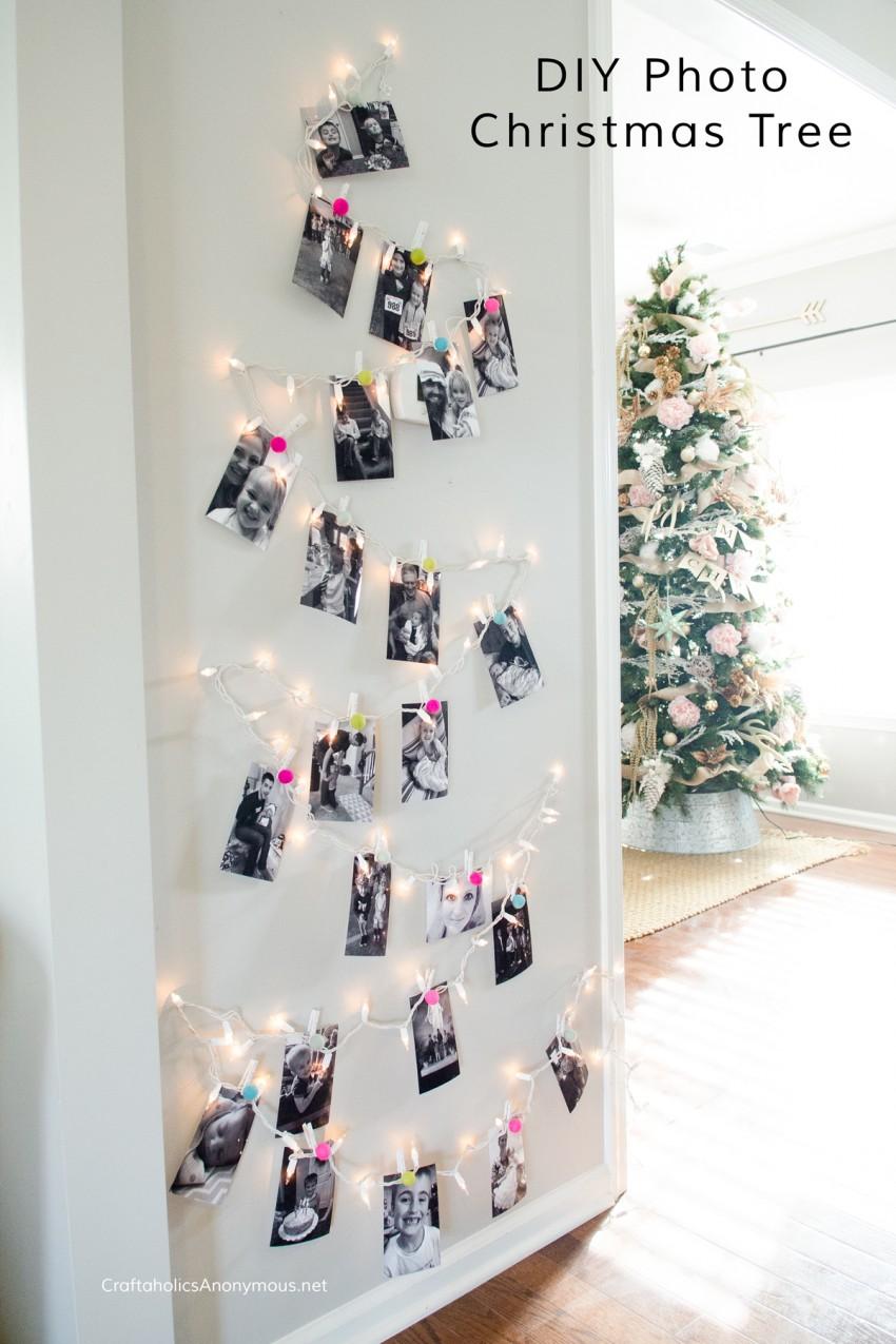 diy-photo-christmas-tree
