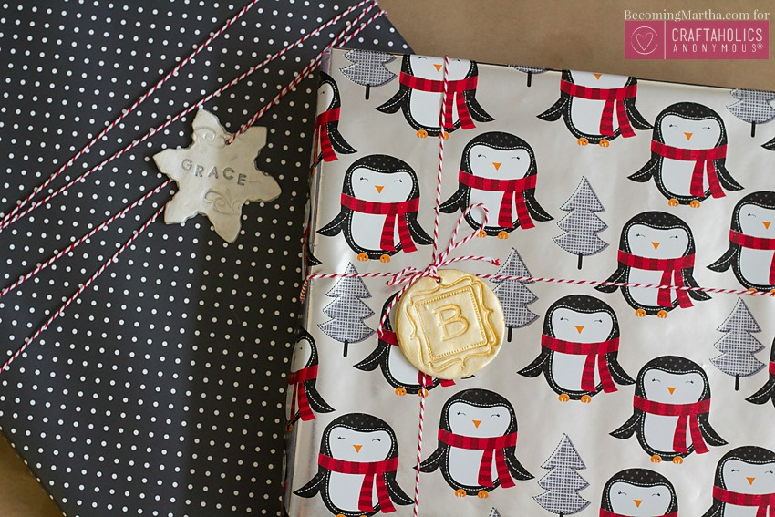 personalized gift wrap toppers