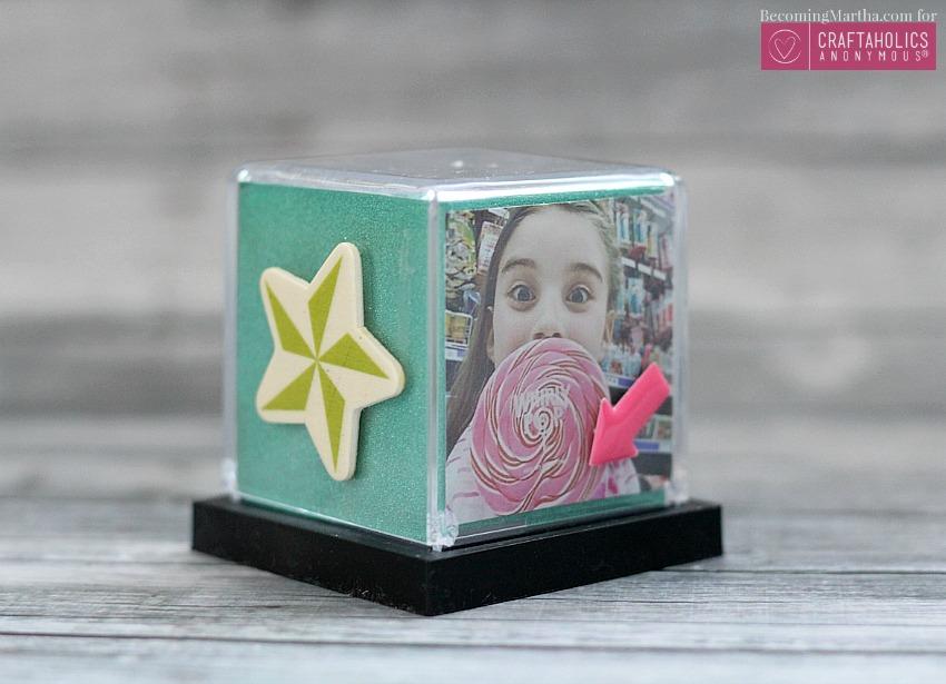 instagram photo display cube