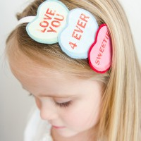 Conversation Hearts Headband Tutorial + Giveaway