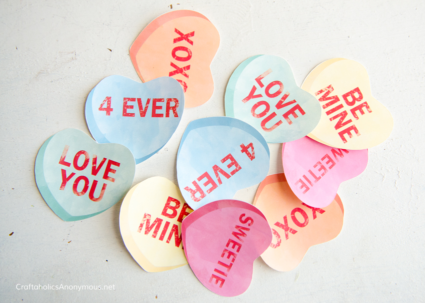 Conversation hearts craft idea - Valentine's Day