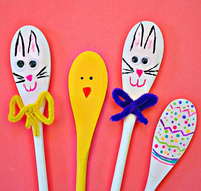 crafts with plastic spoons and wooden spoons