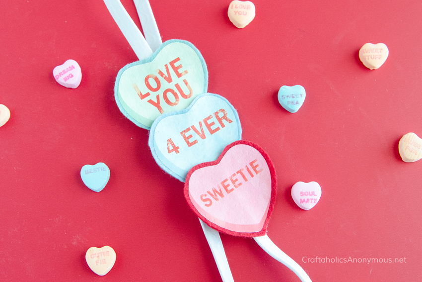 Valentine Conversation Hearts craft idea