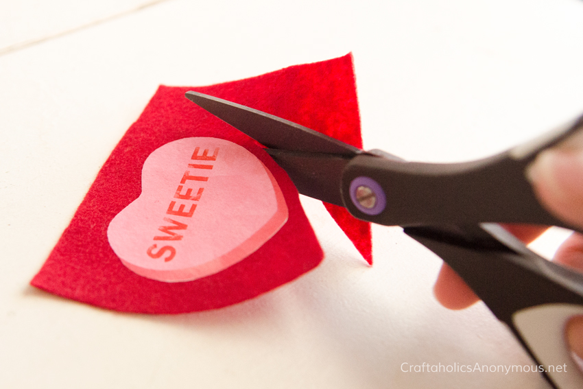 Valentine craft idea _ Valentine's Day conversation hearts