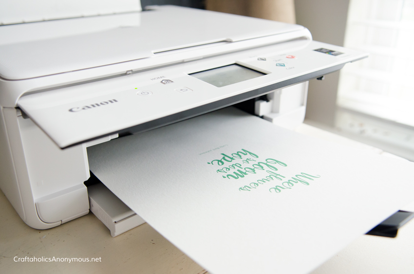 how to print on watercolor paper