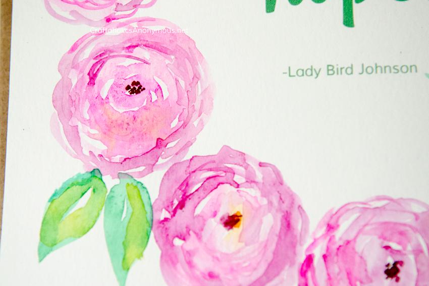Watercolor flowers :: pink peonies CraftaholicsAnonymous.net