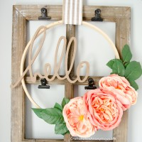Floral Embroidery Hoop Wreaths Tutorial