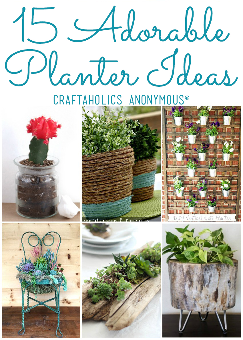 15 Adorable DIY Planter Ideas