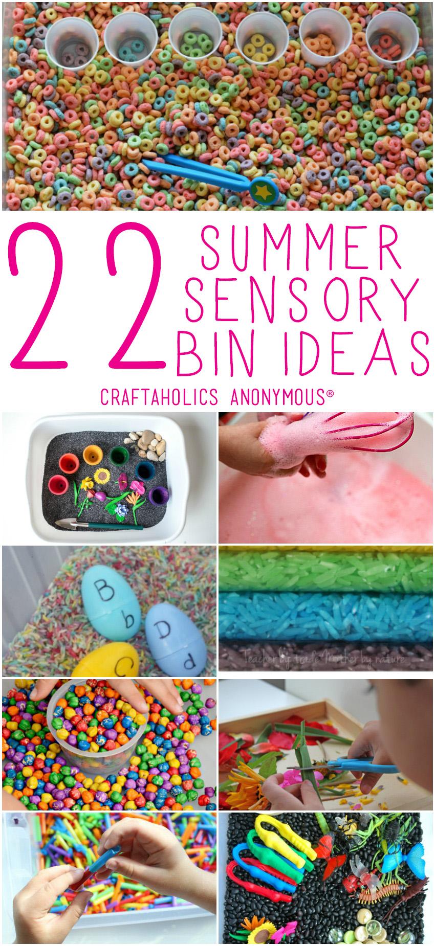 22 Sensory Bin Ideas