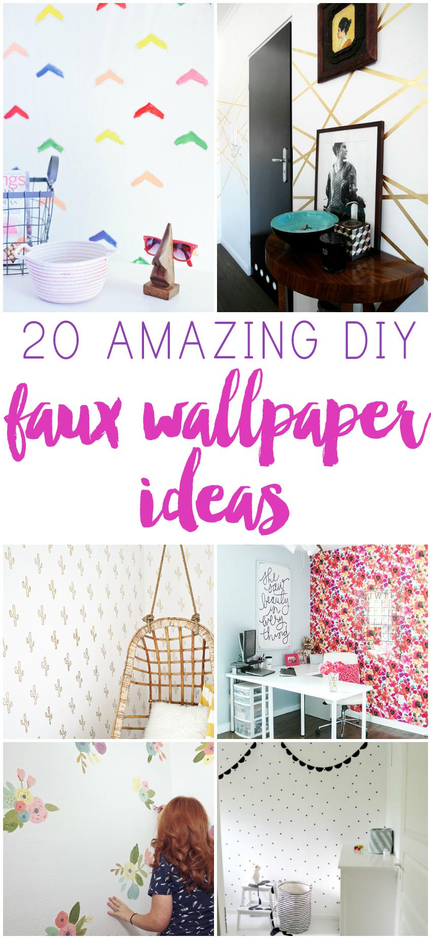 Amazing Faux Wallpaper DIYs