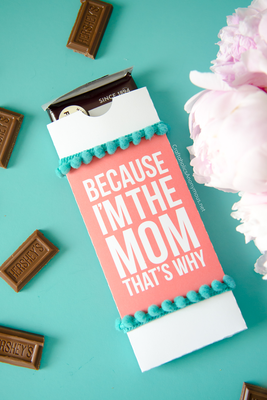Mother's Day gift idea - chocolate candy bar wrapper