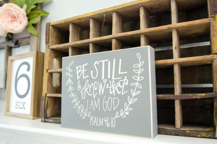 Be Still and Know that I am God scripture decor