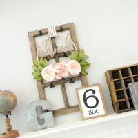 farmhouse mantel