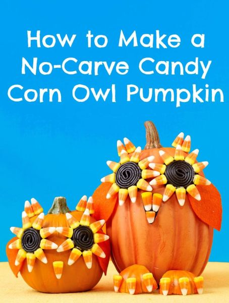 Candy Corn No Carve Pumpkin from All You