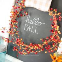 Simple DIY Fall Sign