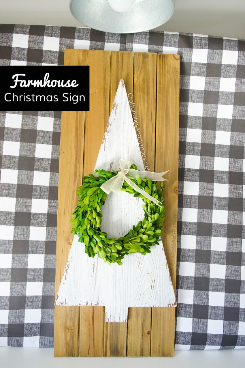 DIY Farmhouse Christmas Sign craft tutorial