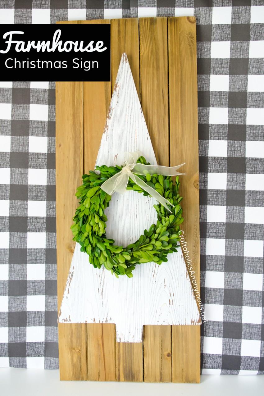 Modern Farmhouse Christmas decor DIY