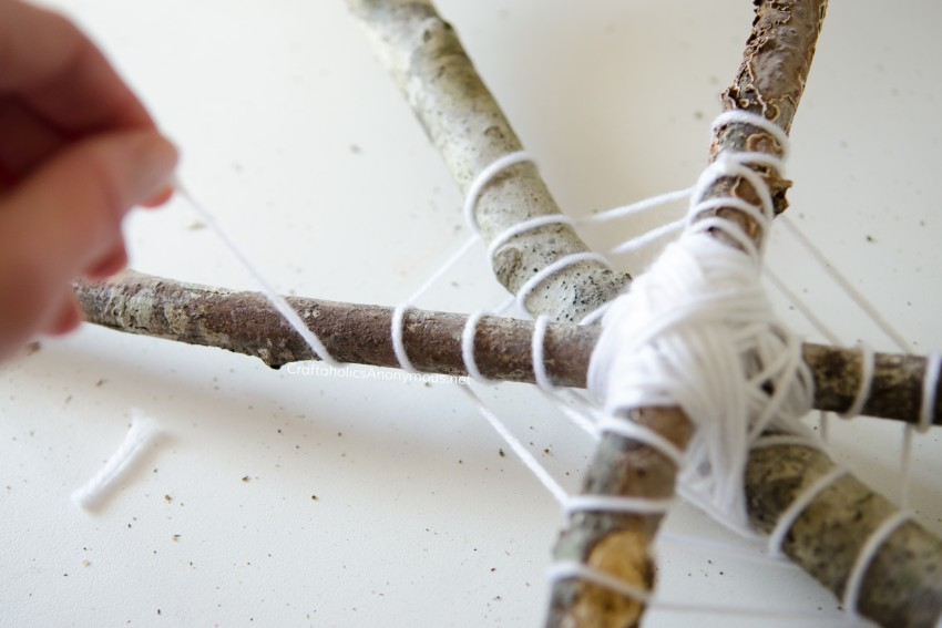 DIY Halloween Spider web craft idea