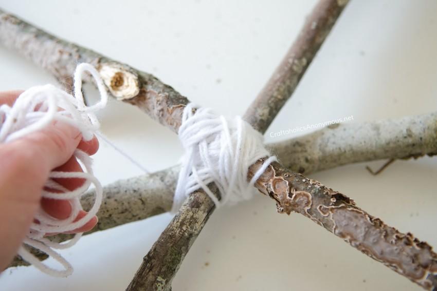 DIY Spider web craft idea