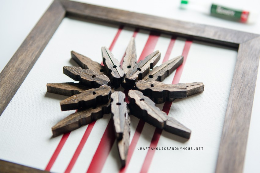 Clothespin Snowflake DIY Wood