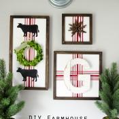DIY Farmhouse Christmas Signs