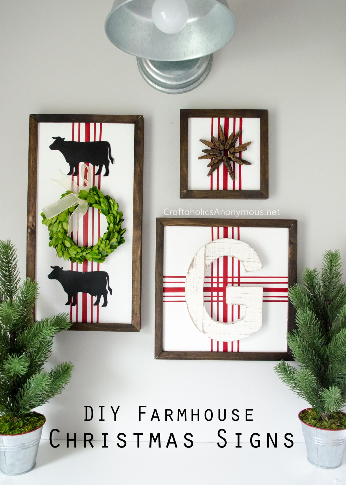 Craftaholics Anonymous 174 Diy Farmhouse Christmas Signs