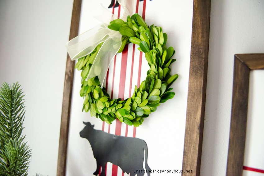 Boxwood wreath with Farmhouse Sign