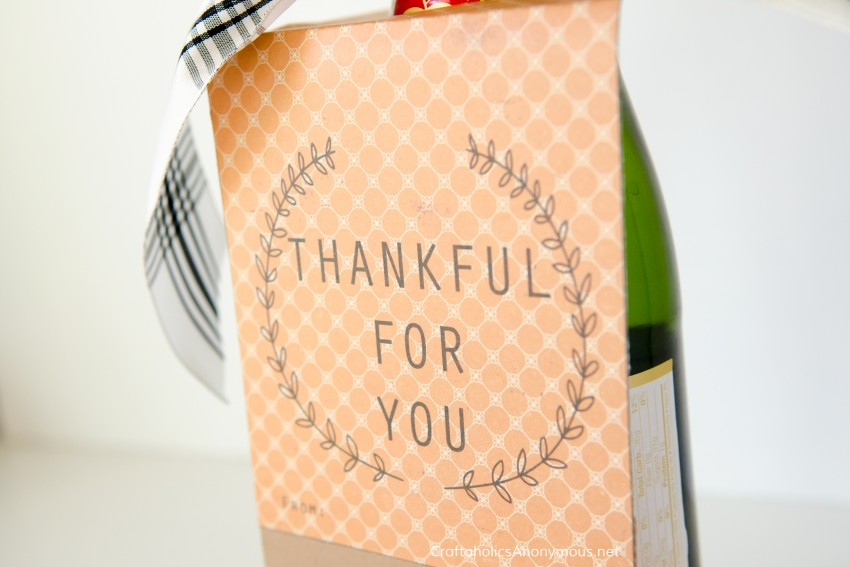 Thanksgiving Gift Idea || Wine bottle neck gift tag