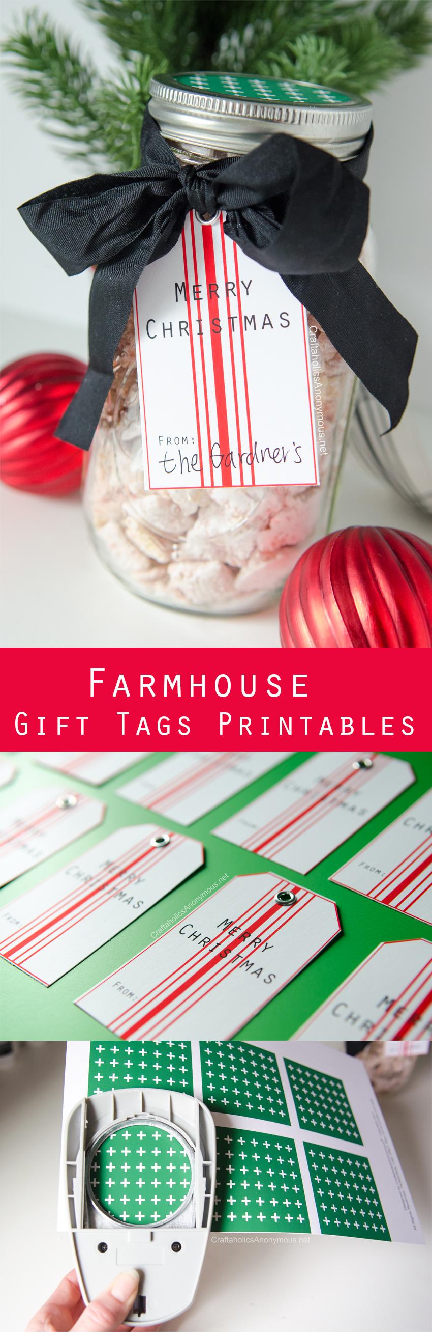 DIY Christmas Gift with Free Printable Farmhouse Gift Tags