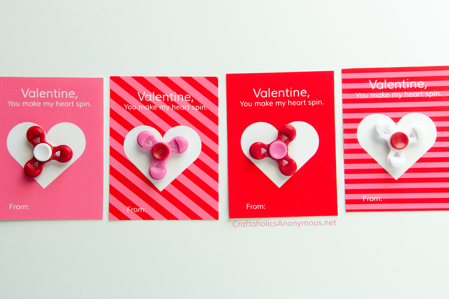 Valentine Printables Fidgett Spinners || valentine, you make my heart spin