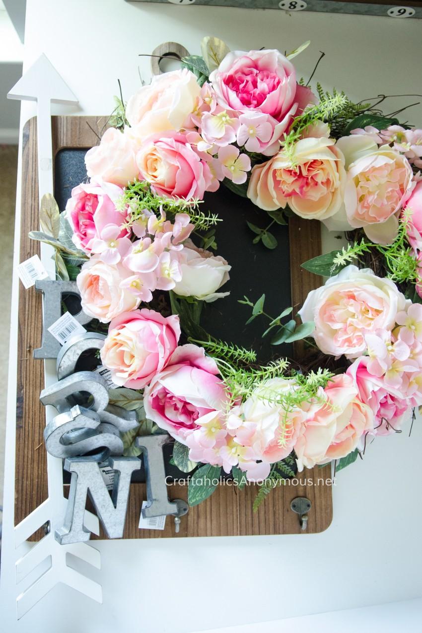 Spring crafting || DIY Spring Wreath