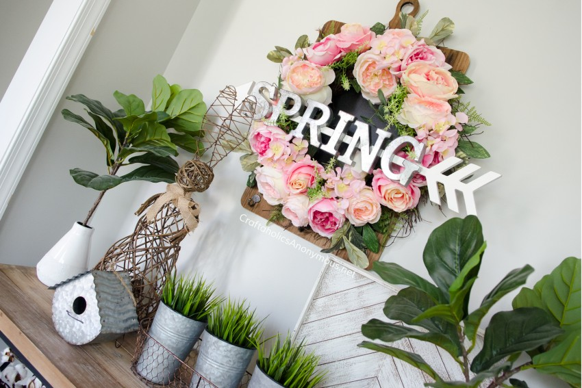DIY Floral Spring Wreath tutorial idea