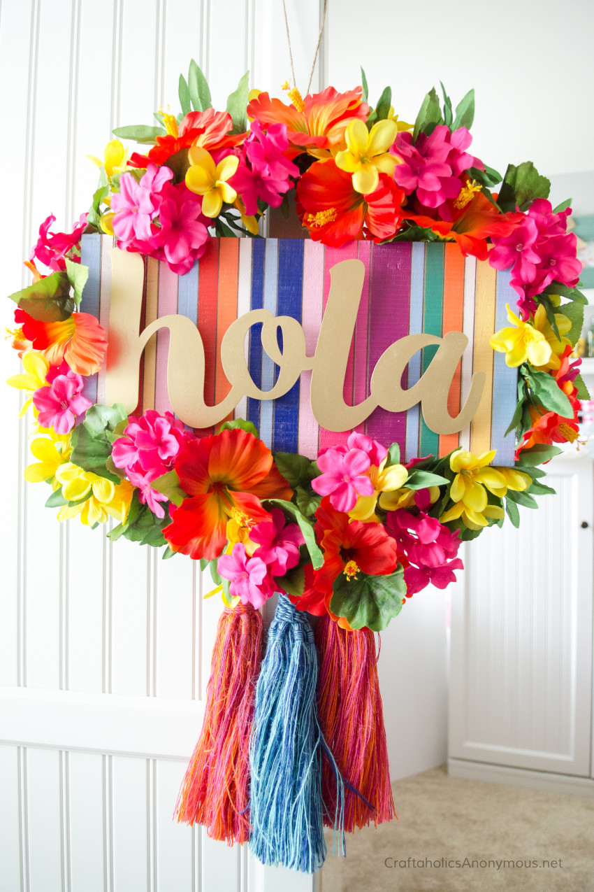 Summer Wreath DIY tutorial