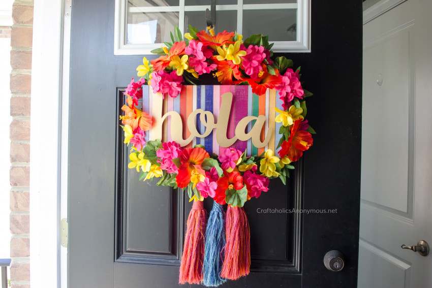 Summer Fiesta Wreath DIY