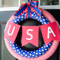 4th of July Wreath DIY tutorial