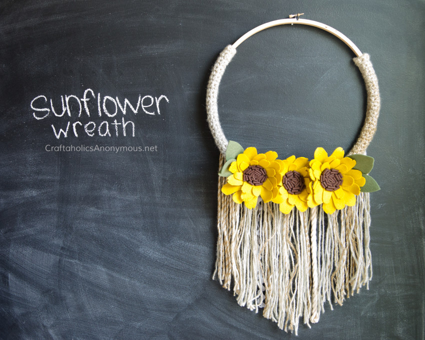 Sunflower Fall Wreath DIY tutorial
