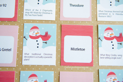 Christmas Trivia Game Printables