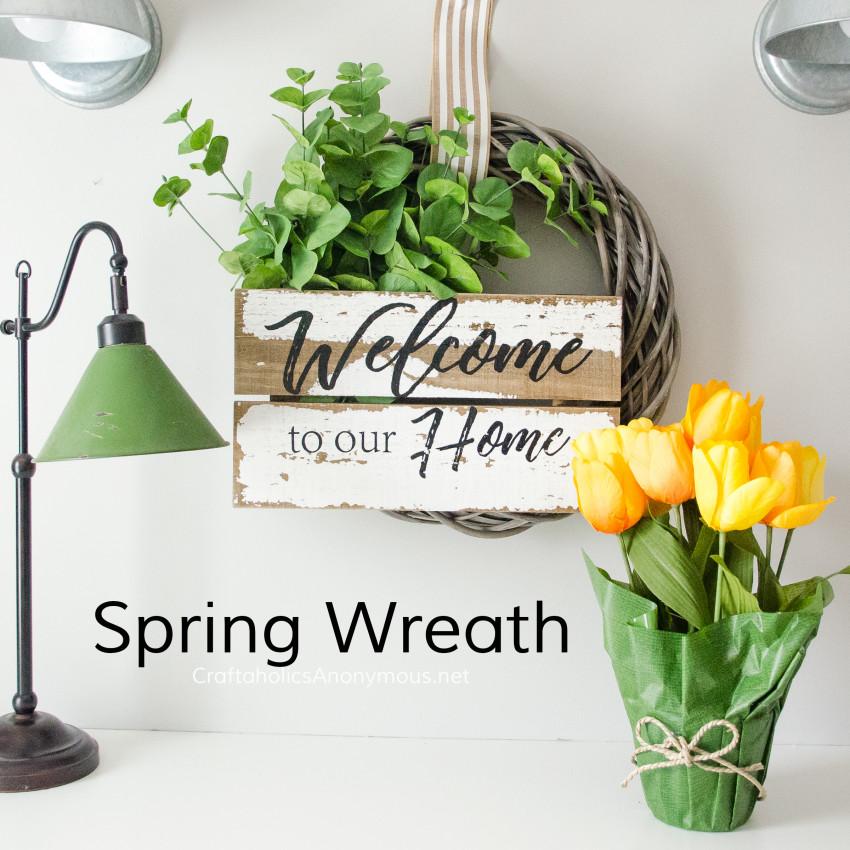 Farmhouse Spring Wreath DIY :: easy wreath tutorial